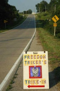 Freedom Trikers, right here in Fairfield, Iowa!