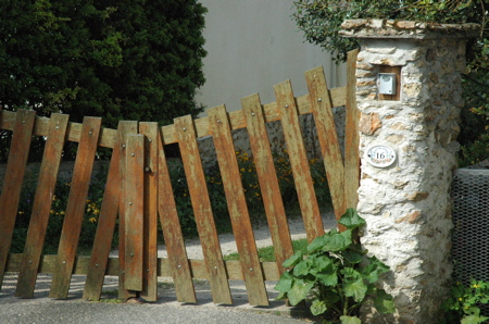 French wooden gate