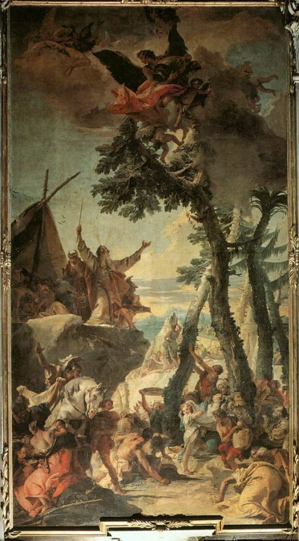 The Gathering of Manna. Painting by Giovan Battista Tiepolo (Photo from www.artbible.info).