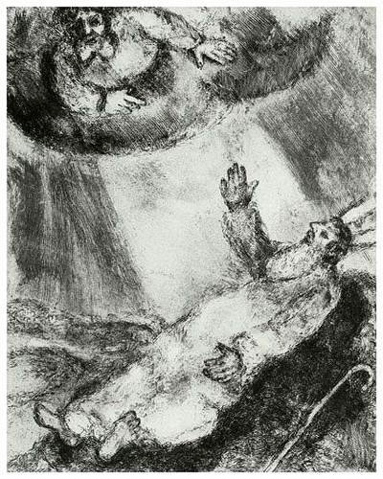 Moses dying. Photo from wikipaintings.org