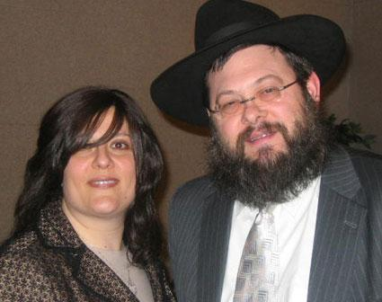 Chabad Rabbi and Wife in Rochester, MN (Photo from www.lubavitch.com)