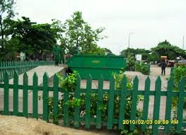 station de décharge pour déchets